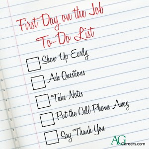 First Day on the Job To-do List