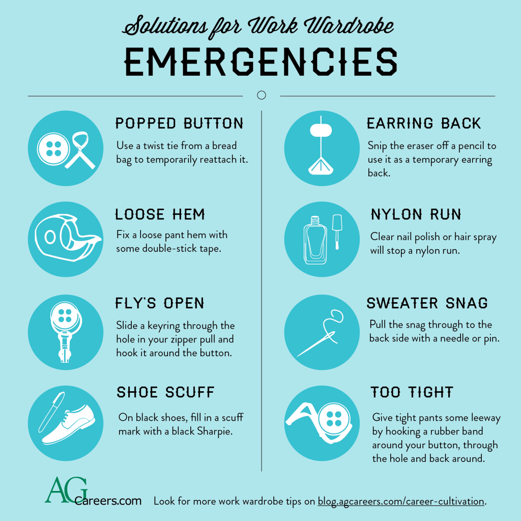 fixes for work wardrobe emergencies