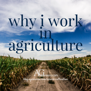 why i work in agriculture