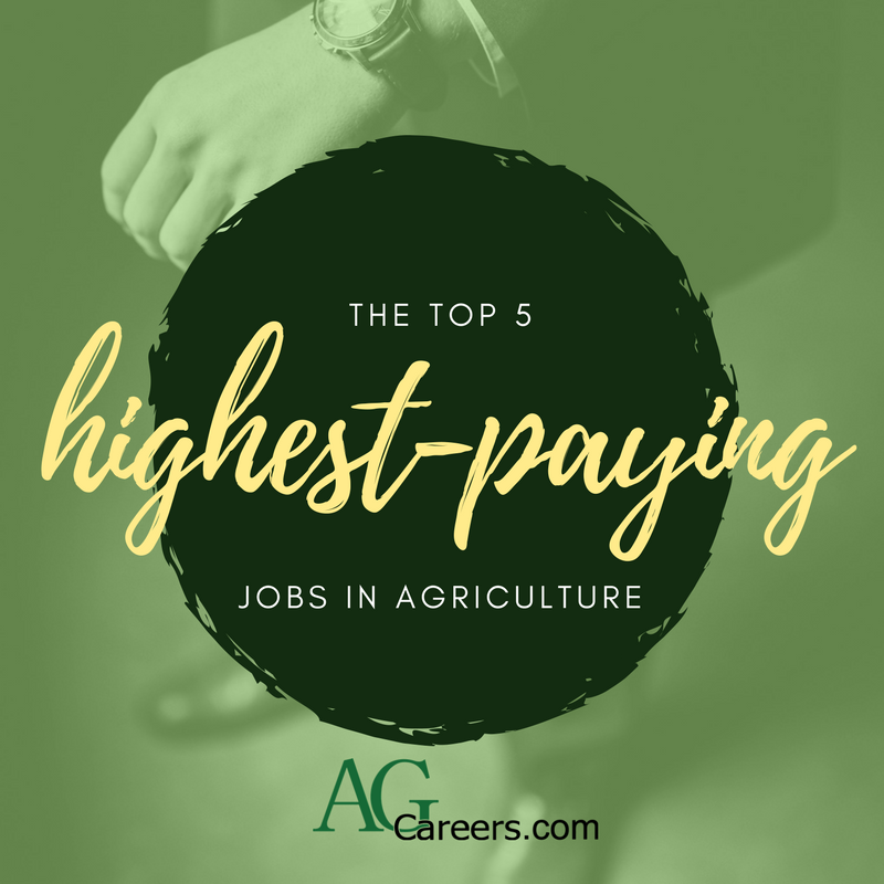 5 highest paying jobs in agriculture