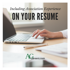 including association experience on your resume