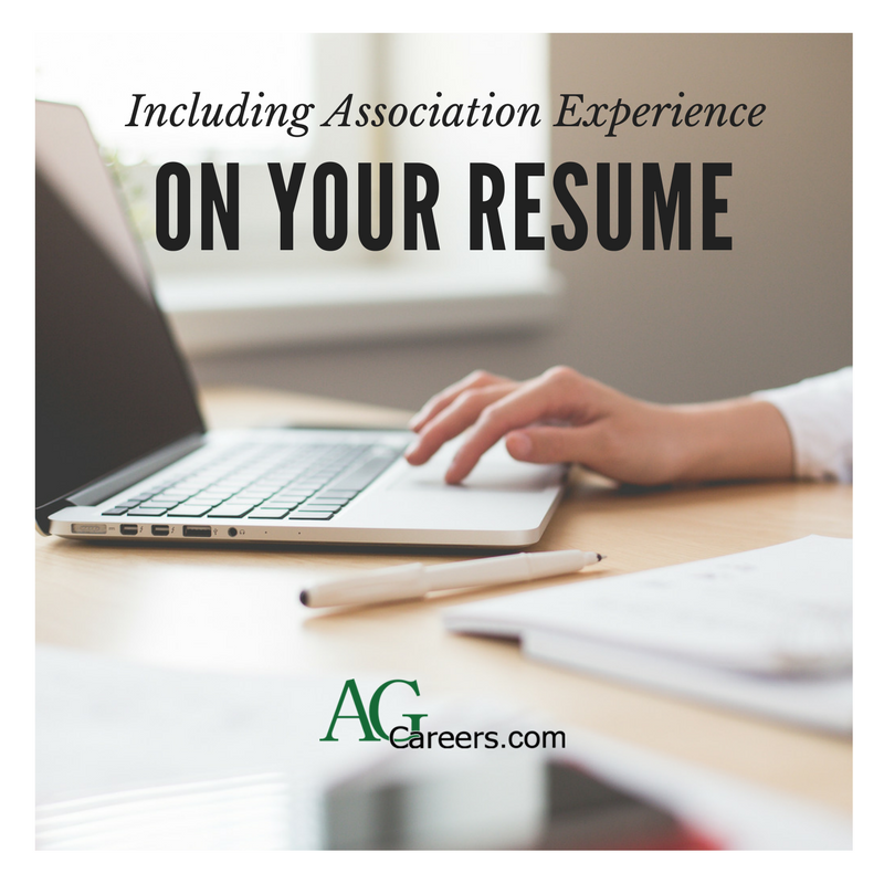 Including Association Experience on Your Resume | AgCareers.com ...