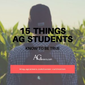 15 THINGS AG STUDENTS KNOW