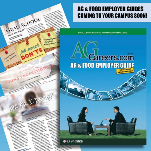 expand your on-campus brand with the AgCareers.com Ag & Food Employer Guide