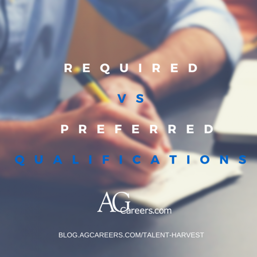 required vs preferred qualifications