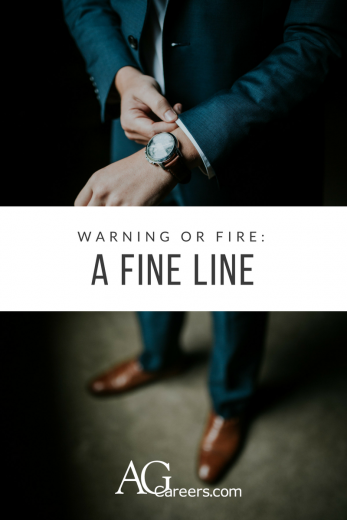 warning or fire a fine line