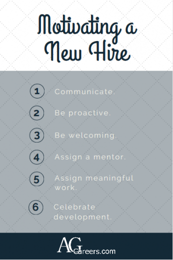 How to motivate a new hire